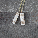 Natural Selenite Neckalce, Minimal Healing Crystal Jewelry