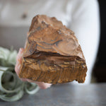 Raw Tiger's Eye Stone Slab, 1lb 14oz