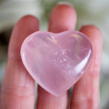 Rose Quartz Heart, 1.25in