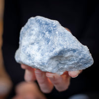 Rough Blue Calcite Stone, 1lb
