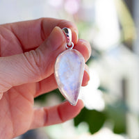 Rainbow Moonstone Pendant, Sterling Silver