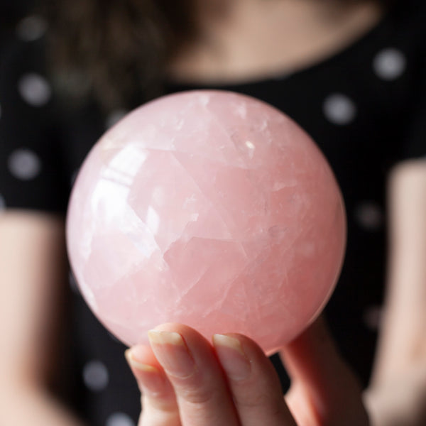 Large Rose Quartz Sphere