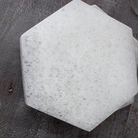Large Selenite Slab, 6in Hexagon Plate for Cleansing or Crystal Grid