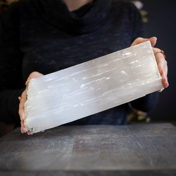Large Selenite, 5.8lb Raw Log