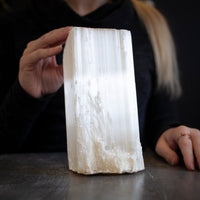 Large Selenite, 4.7lb Raw Log