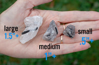 Raw Tourmalated Quartz Crystal | Choose your size