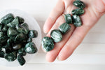 seraphinite tumbled stones, small genuine