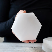 Hexagon Selenite Plate, 4in