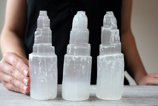 Selenite Tower, 6in