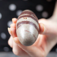 Shiva Lingam | 3.5inch | Exact Shown, Stripes