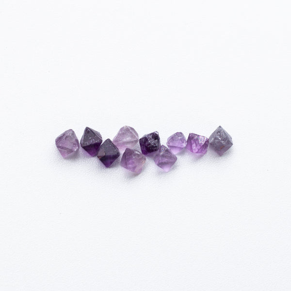 Tiny Purple Fluorite Octahedrons