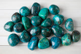 "Chrysocolla Tumbled Stone | 1"", Vibrant Colors"