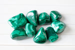 grade a malachite stones, green striped stones.