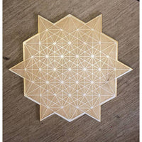 Tetrahedron Crystal Grid, 6in Wood Grid