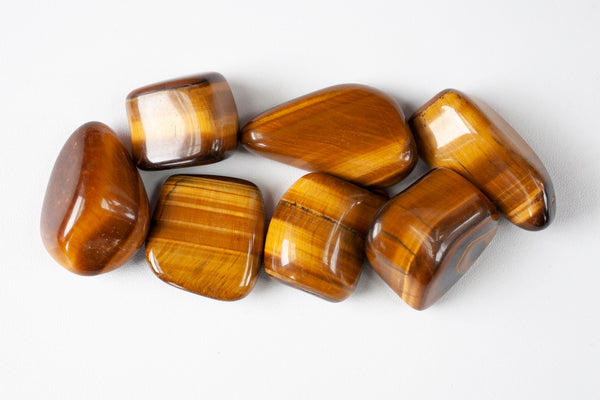 Large, High Quality Tumbled Tiger's Eye Stones by Cape Cod Crystals. Chatoyant stones