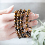 Tiger Eye Bead Bracelet, 8mm