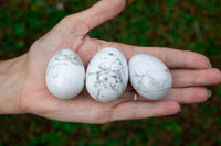 white howlite eggs
