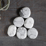 White Howlite Worry Stone