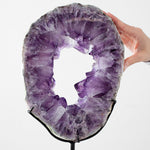 Amethyst Geode Ring with Stand