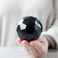 Geometric Black Tourmaline Sphere
