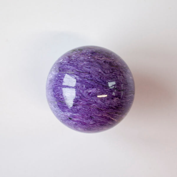Charoite Sphere AAA, 2.3in
