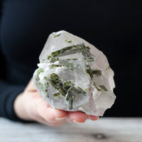 Epidote in Quartz