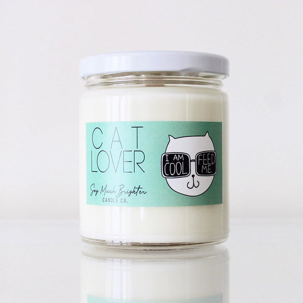 Cat Lover Gift Candle Brown Sugar + Fig Candle