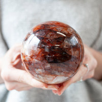 Fire Quartz Sphere, Agnitite