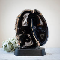 Black Agate Slab on Stand