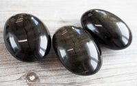 Large Gold Sheen Obsidian Palm Stone