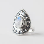 Rainbow Moonstone Cuff Ring
