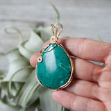 Turquoise Pendant in 14k Gold Fill