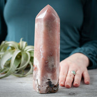 Pink Amethyst Tower, 7in