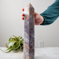 Pink Amethyst Tower, 11.5in