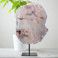 Pink Amethyst Slab on Stand
