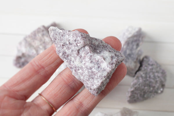 Raw Lepidolite crystal