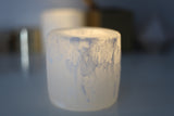 Selenite Crystal Night Light with LED tea light