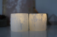 Selenite Crystal Tea Light Holder / LED Night Light