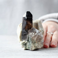 Smoky Quartz in Feldspar