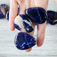 Sodalite Worry Stone, Royal Blue