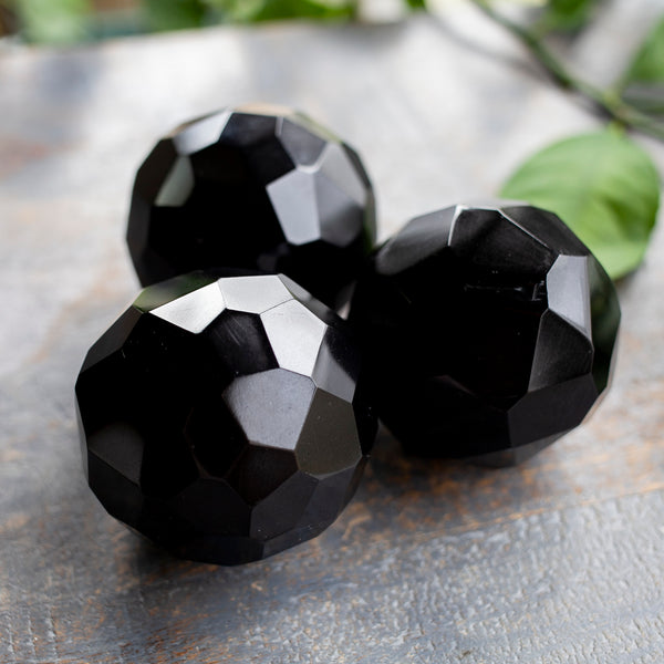 Black Tourmaline Geometric Sphere