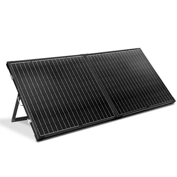 Solraiser 250W Folding Solar Panel Kit Regulator Black