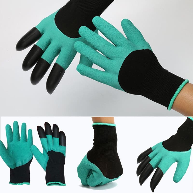 1 pcs Plastic Claws Planting Gloves Gardening Excavation Hands Protective