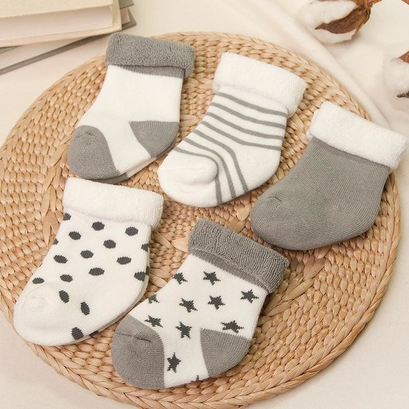 INS HOT Girl Boy Toddler Anti-slip Warm Slippers Socks Cotton Shoes Winter Home
