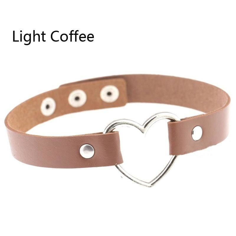 1 Pc Punk Necklace Heart Collar Sexy Accessories Choker Fashion Jewelry (30 Colors)