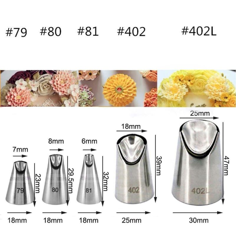 1Pc Russian Nozzle Juju Tulip Stainless Steel Icing Piping Tips DIY Pastry Decor