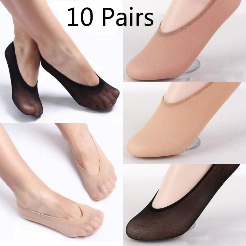 Antibacterial Breathable Ladies Women/'s Bamboo Invisible Shoe Liner Socks  UK