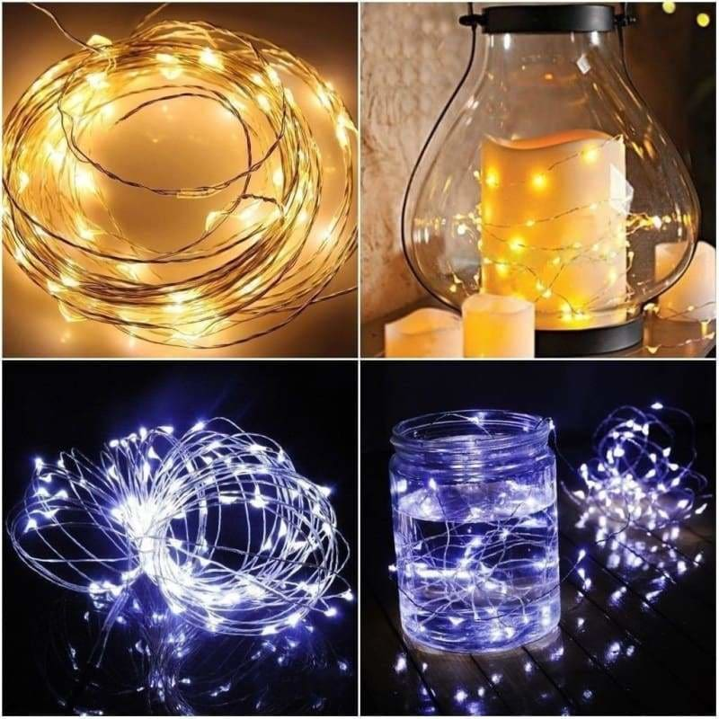 100 LED String Copper Wire Fairy Lights Battery Powered Waterproof 10M