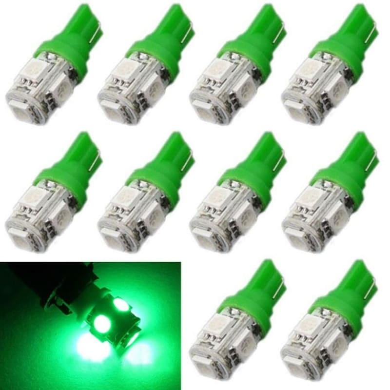 20 PCS T10 Canbus Wedge 5SMD 5050 White W5W 194 158 192 168 LED bulb  Error free