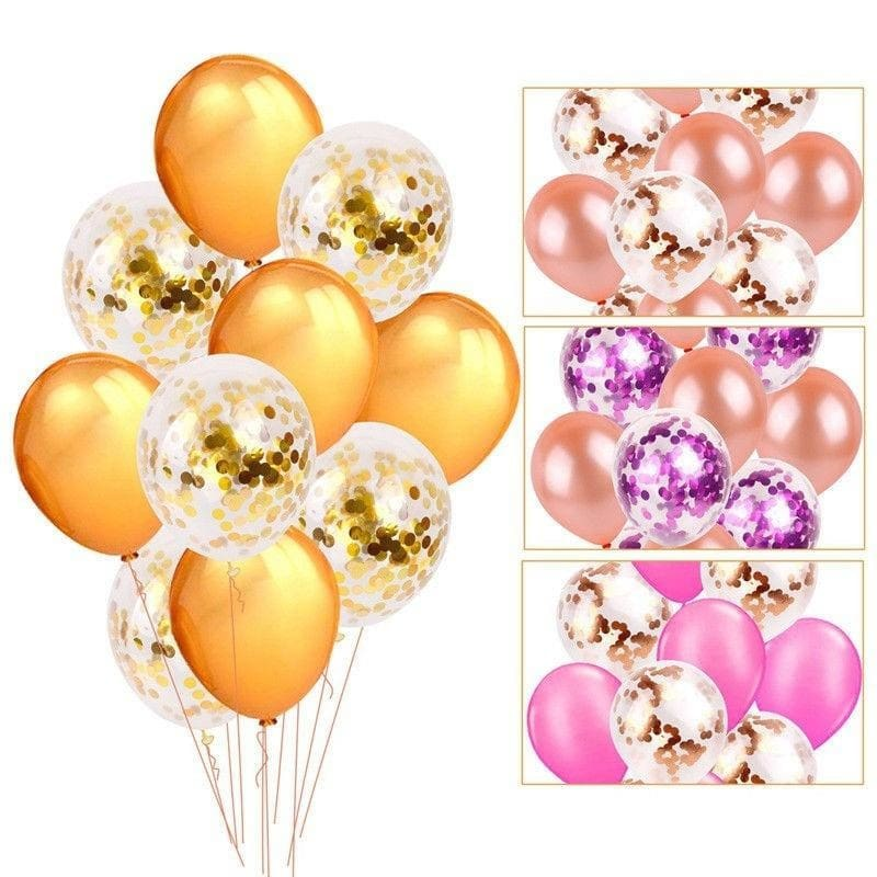 Adult Party Decor Latex Wedding Birthday Confetti Balloon Foil Balloons Set